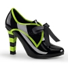 TESLA-14 Black/Lime Green Patent
